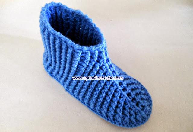 meias e pantufas em croche video-aulas gratis no site aprender croche