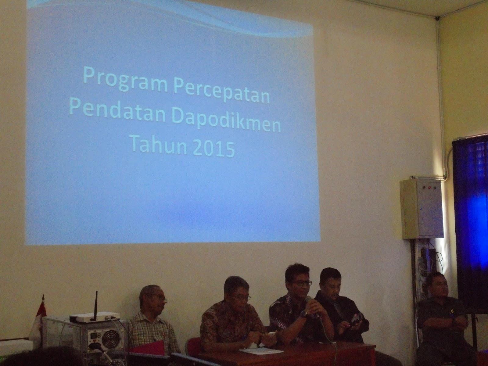 Program Percepatan Pendatan Dapodikmen Tahun 2015