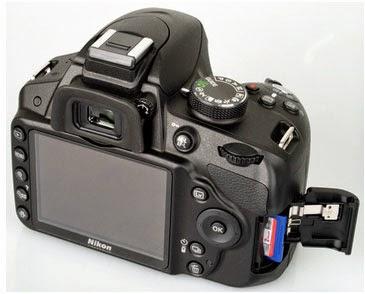Trasera de la Nikon D3200
