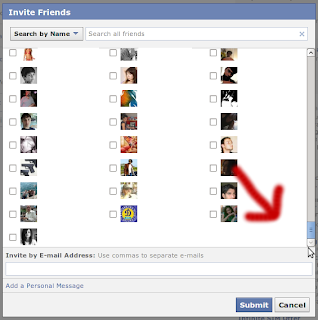 How to select all friends at once to invite friends on Facebook