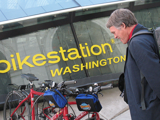 Bikestation de Washington DC é moderno e seguro