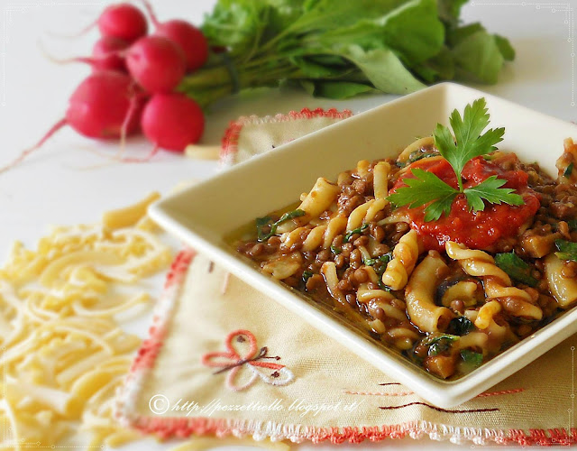 Pasta mista con lenticchie