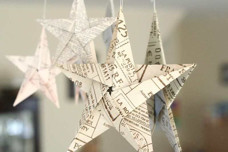 Reciclar reutilizar y reducir c mo hacer estrellas de - Arbol de navidad de origami ...