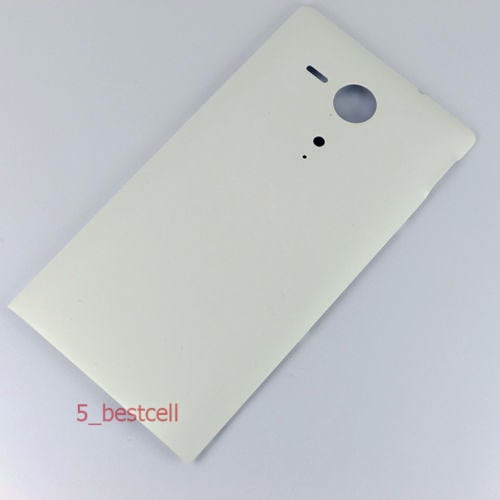 White Back Door Battery Cover Case Replacement For Sony Xperia SP M35h