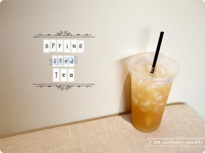 the notebook doodles-spring iced tea
