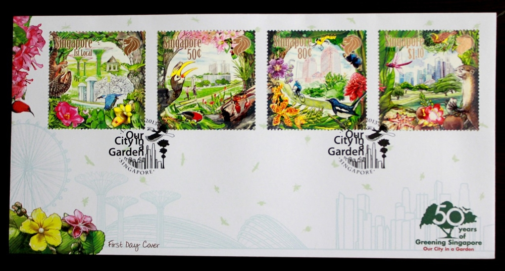 Singapore Stamp 2013 Our City In a Garden First Day Cover (FDC)