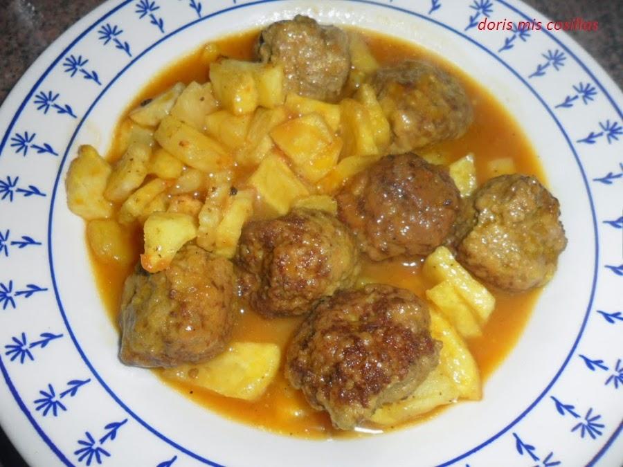 Albondigas de verdura con salsa de cebolla - Albondigas de verdura ...