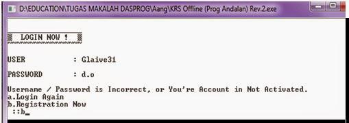 Contoh Program KRS Offline Dengan C++