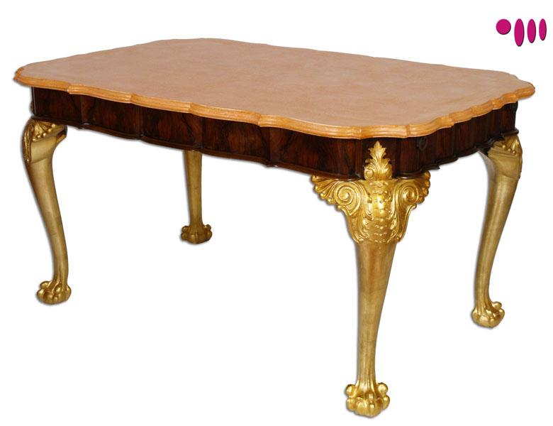 Tavolo barocco foglia oro myartistic - Tavolo barocco moderno ...