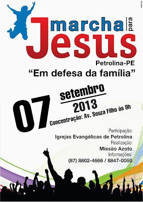 MARCHA PÁRA JESUS EM PETROLINA PE