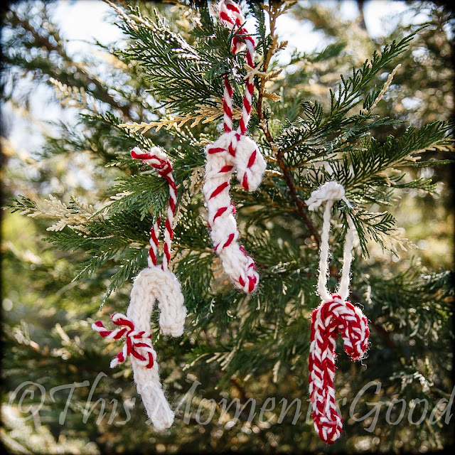 This Moment Is Good!: Loom Knit Candy Cane Ornaments