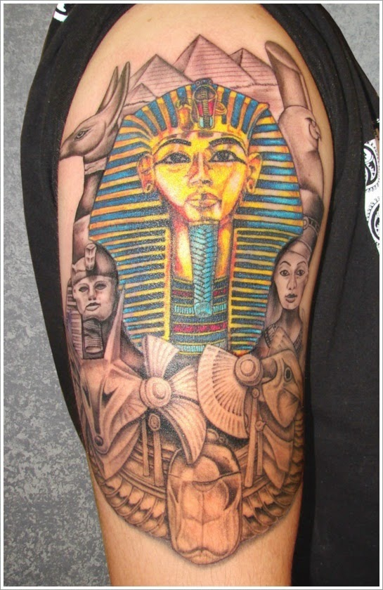 egyptian tattoo arms