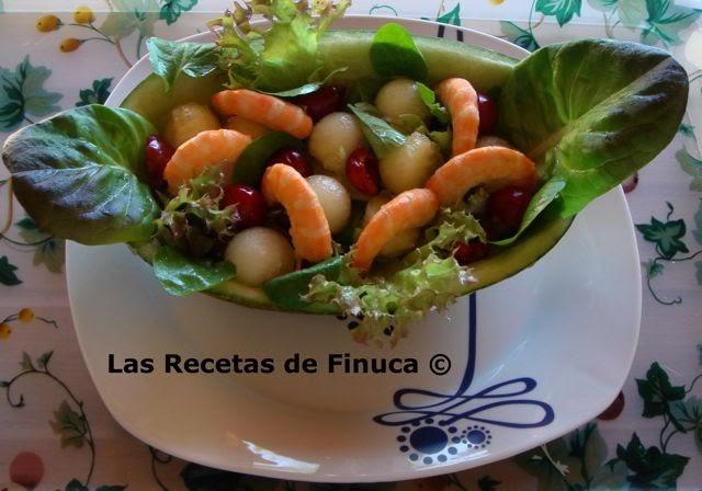 Las recetas de finuca ensalada de mel n cerezas y for Ensalada francesa