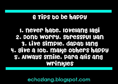 6 Tips to be Happy