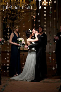 Neal and Darcie's wedding ceremony at the Sunset Club - Patricia Stimac, Seattle Wedding Officiant