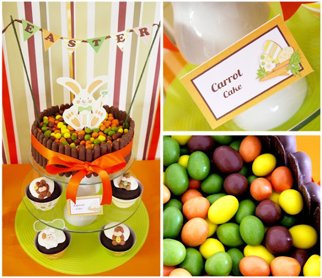 Easter Bunny Party: A Full-On Chocolate Desserts Table cake