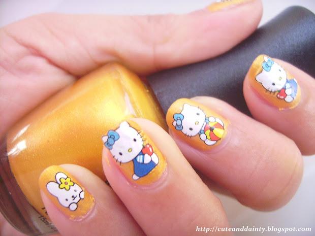 notd kitty nails - cute