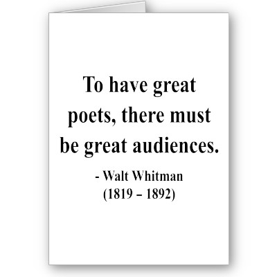 """walt whitman the poet of american Walt whitman and the culture of american celebrity proposes a """"this tightly written volume examines the trajectory of poet walt whitman's relationship."""