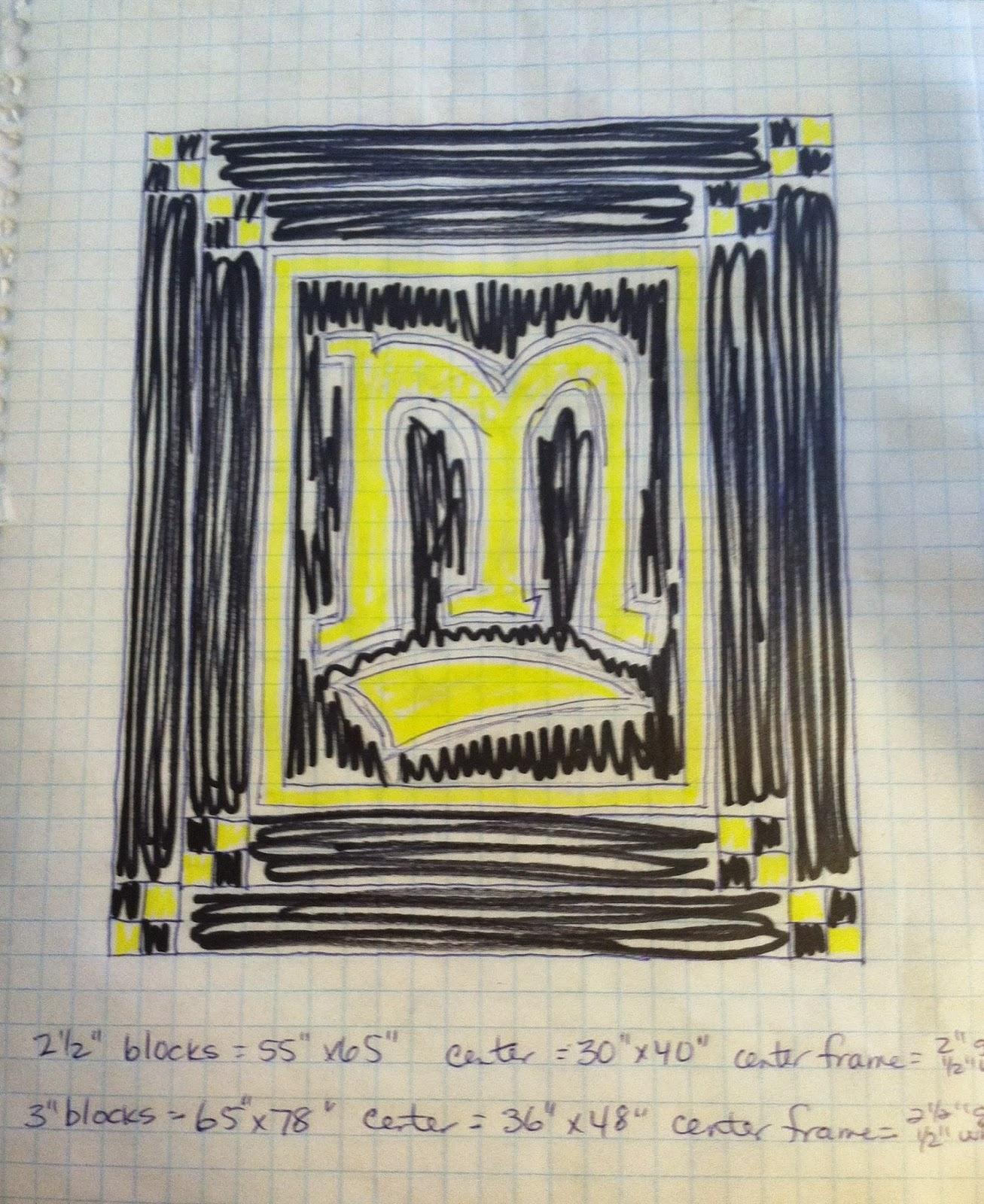 School Quilt, Big M, Monroeville Quilt