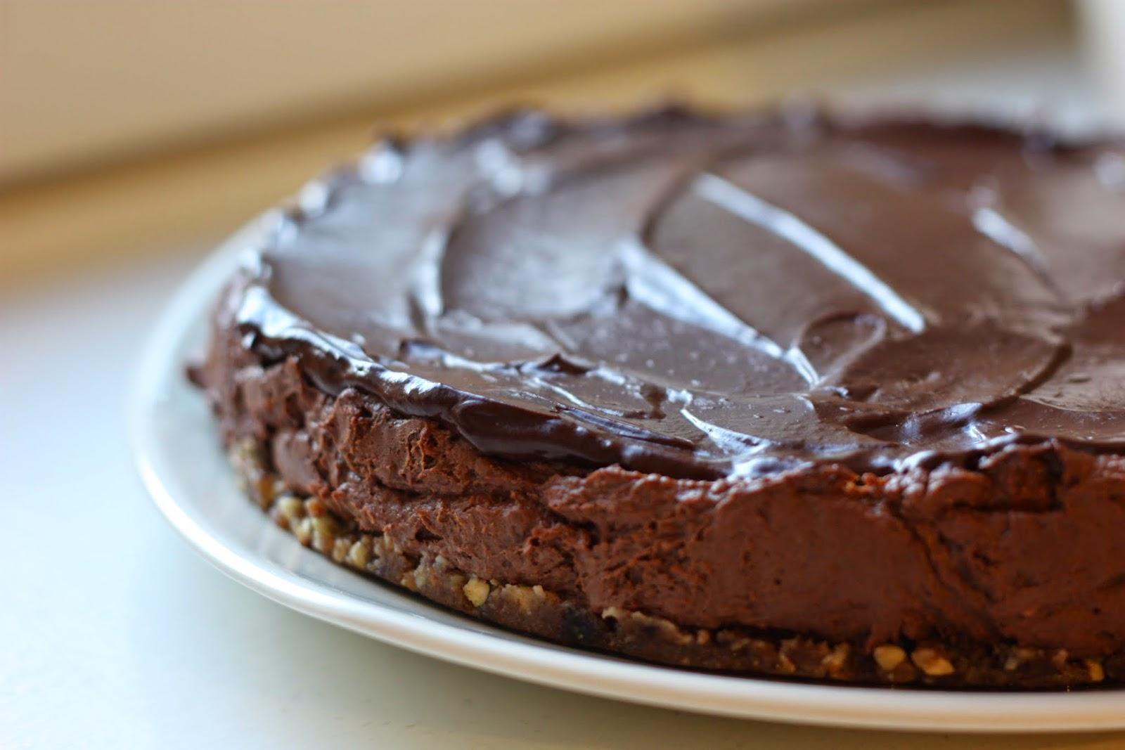 les petits plats de rose tarte la mousse au chocolat v g tale fa on cheesecake vegan. Black Bedroom Furniture Sets. Home Design Ideas