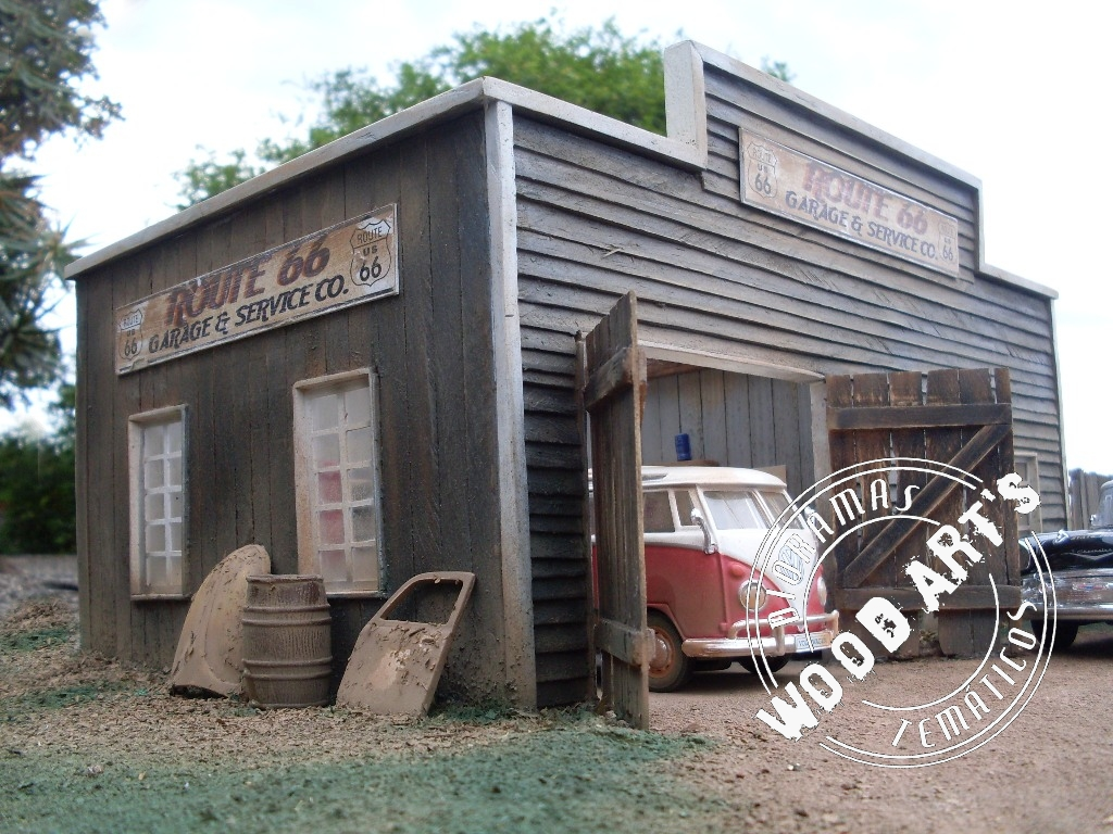 Dioramas tem ticos route 66 garage service co for Garage route 66 metz