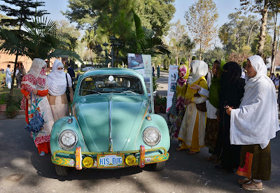 Pakistan, Women, Khyber Pakhtunkhwa-KPK, Car, Show, Vintage, Volkswagen Beetle, Tourism, Organized, Gleaming, Economy, Business, Women, People, Auto, History,