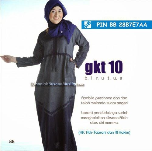 Sik Clothing Gamis GKT 10 Biru Tua