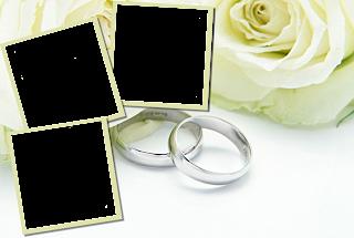 03 Molduras Flores De Casamento Em PNG