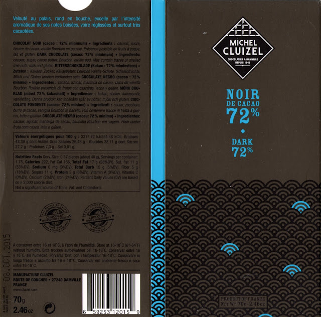 tablette de chocolat noir dégustation michel cluizel noir de cacao 72