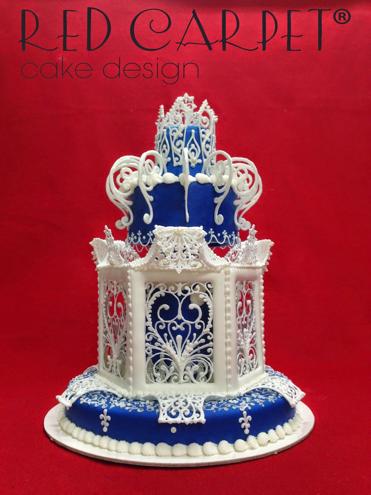 Imperial Blue Cake Sigep 2015 By Red Carpet Cake Design Red