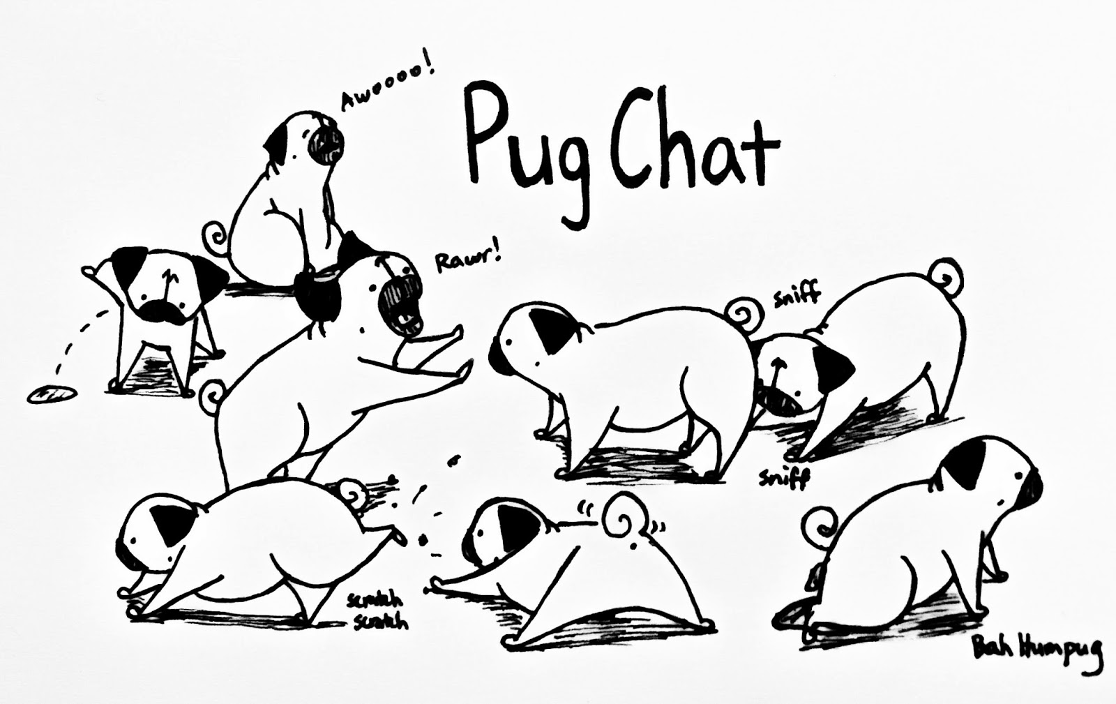 Pin pugs coloring pages on pinterest for Cute pug coloring pages
