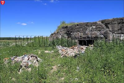 Первый немецкий бункер у деревни Дубово под Барановичами