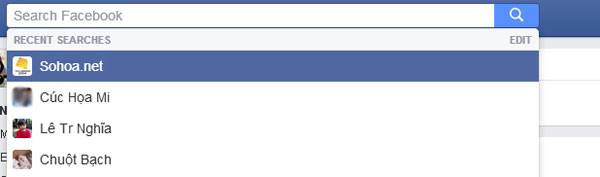 Hướng dẫn xóa các lệnh tìm kiếm trên Facebook 2