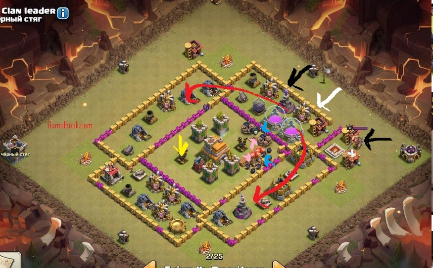 inilah base war coc th 7 terkuat anti naga blog campuran. Black Bedroom Furniture Sets. Home Design Ideas