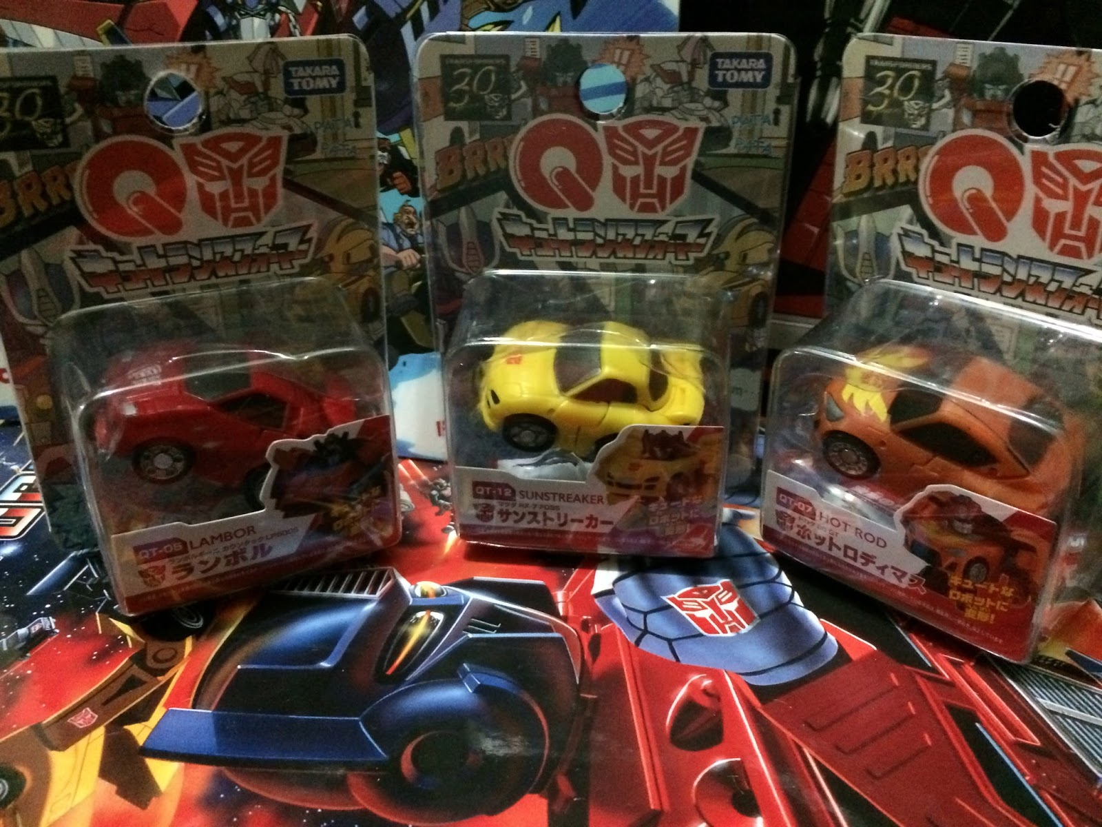 Takara Tomy Q Transformers QT12 Mazda RX-7 FD3S Sunstreaker Figure