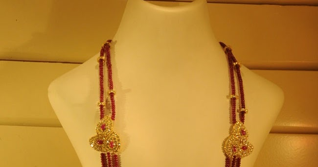 Latest Indian Jewellery designs: Long Coral necklace | pagadala haram ...