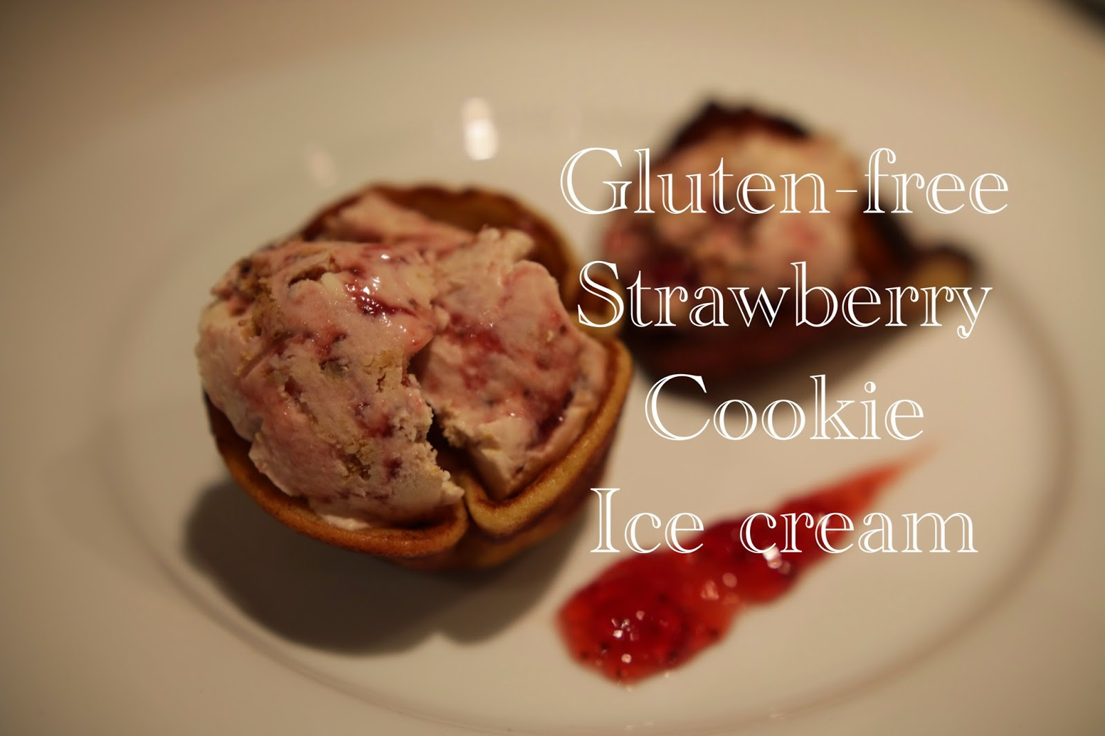 Gluten-free strawberry cookie ice cream