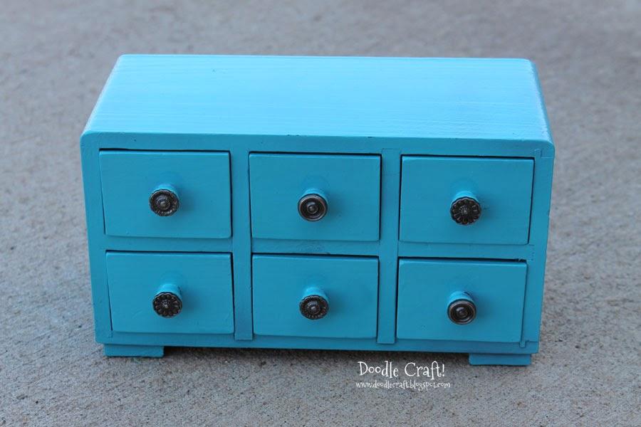 Doodlecraft Aqua Mini Apothecary Cabinet Update