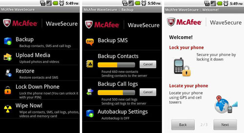 Aplikasi Android McAfee Mobile Security