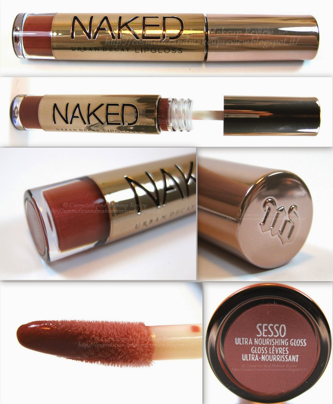 Urban Decay - Naked On The Run Palette - Sesso Naked Lipgloss - packaging