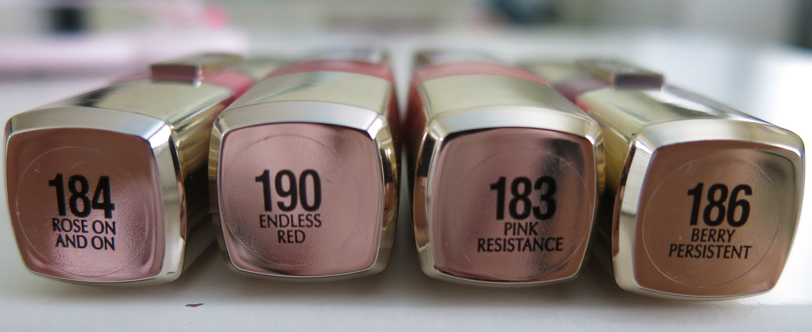 Rose On and On, Endless Red, Berry Persistent, Pink Resistance