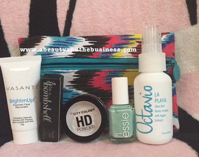Ipsy Bag, Ipsy July bag, Ipsy July 2015, Ipsy July 2016, ipsy unbagging, Surprise Ipsy unbaggjng, surprise ipsy, ipsy surprise unboxing, vasanti brighten up, , be a bombshell, city color, essie, ovtavio,