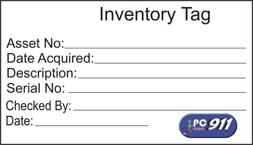 alonlinestuff pc911 inventory tag sticker. Black Bedroom Furniture Sets. Home Design Ideas