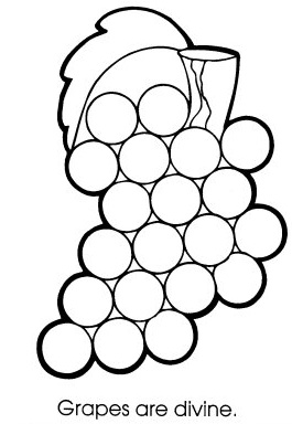 Free Grapes Coloring Pages | Learn To Coloring