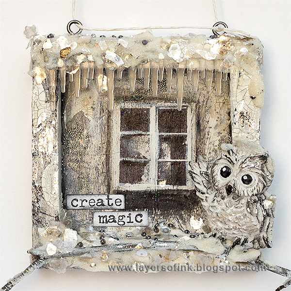 Layers of ink - Owl in Winter Window by Anna-Karin