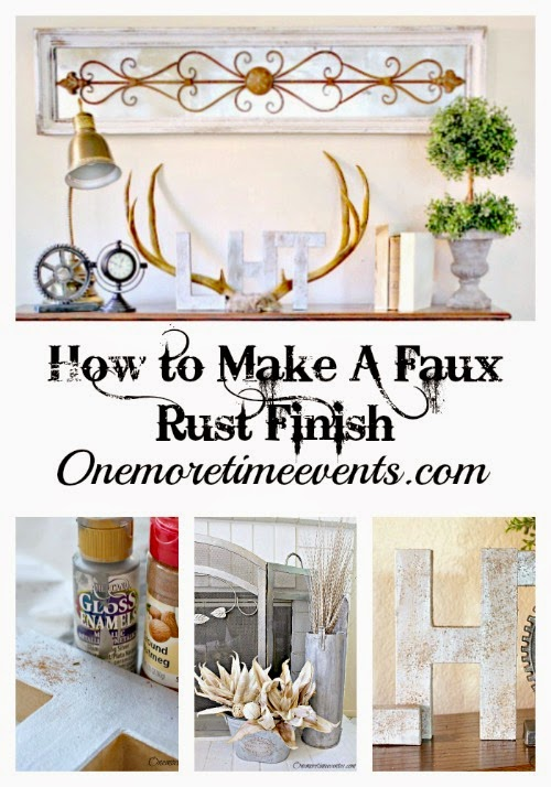 How to Make Faux Rust Finish at One More Time Events.com