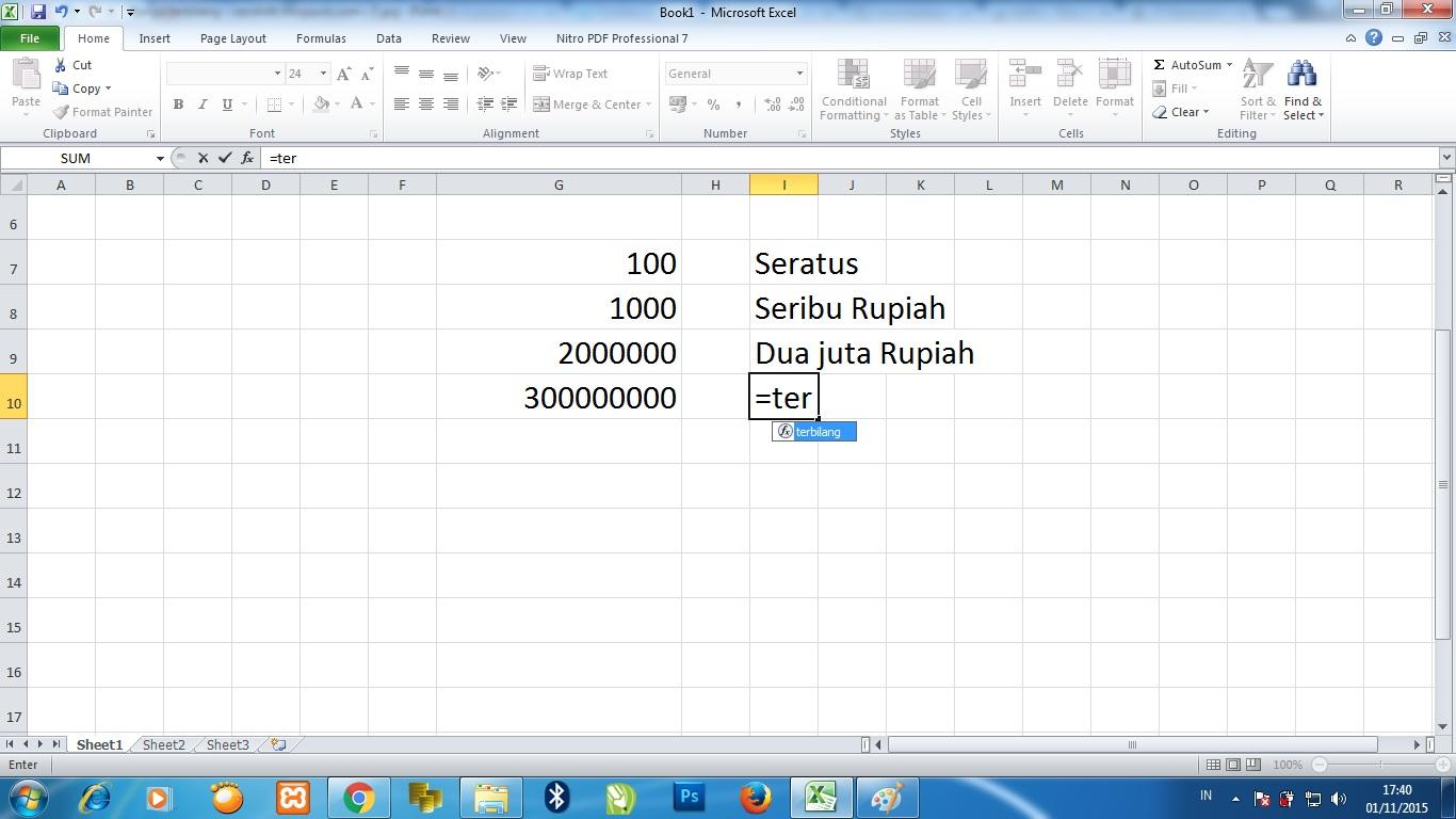Cara Membuat Fungsi Terbilang di Microsoft Excel 2010 ...