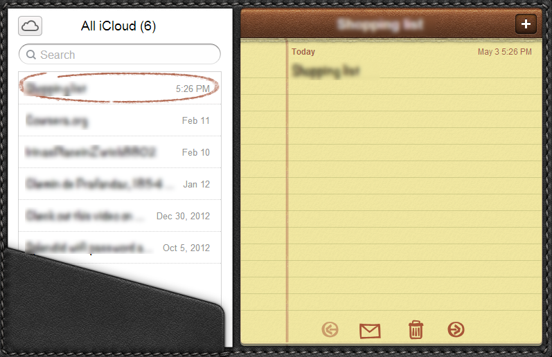 icloud notes accessed from pc
