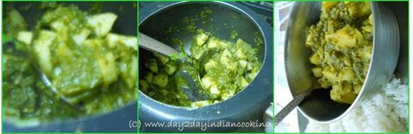 step 2 of methi aloo curry