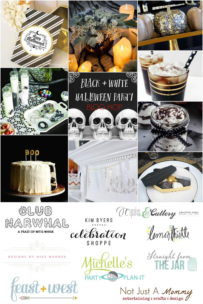 Black + White Halloween Party Blog Hop